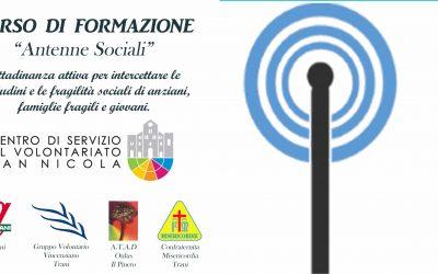"""CORSO DI FORMAZIONE """"ANTENNE SOCIALI"""""""