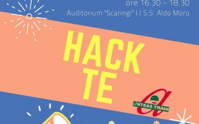 "Evento finale ""Hack te"", l'hackathon sul volontariato targato Anteas Trani"